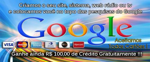 site no topo do google
